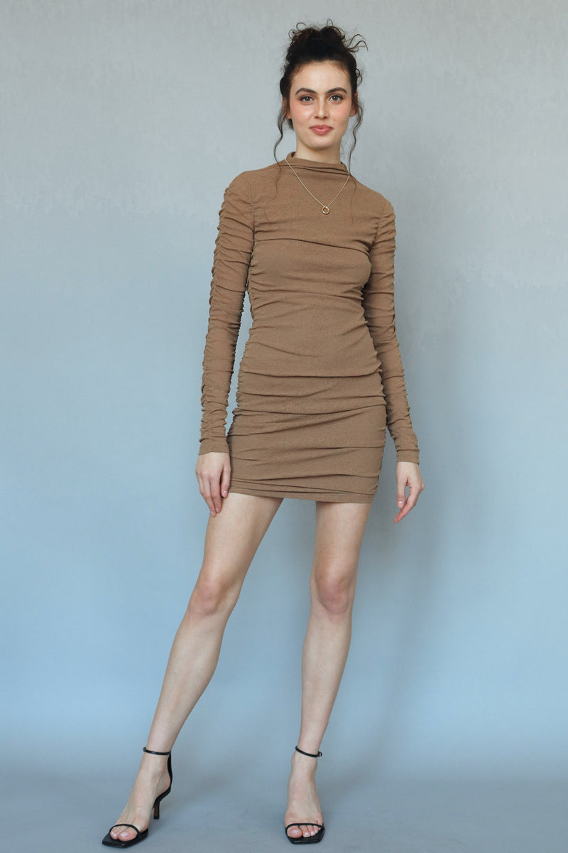 BEIGE BOTANY - VENICE DRESS