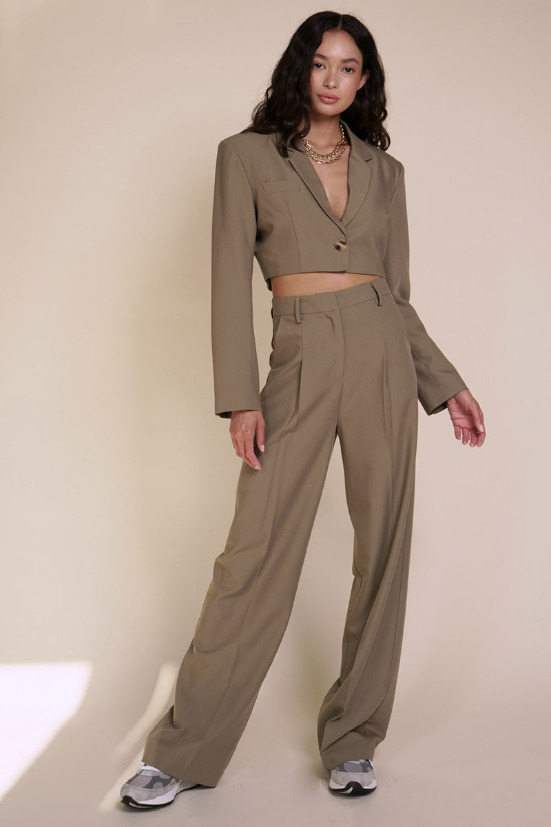 BEIGE BOTANY - MILAN TROUSERS