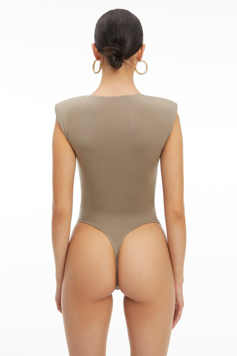 GOOD AMERICAN - ASYMMETRICAL POWER BODYSUIT