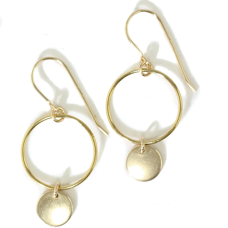 AMY JOY JEWELRY - CIRCLE MILAN DISC EARRINGS