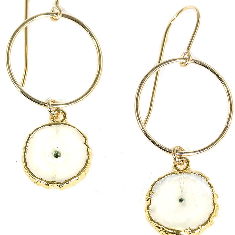 AMY JOY JEWELRY - CIRCLE MILAN SOLAR EARRINGS