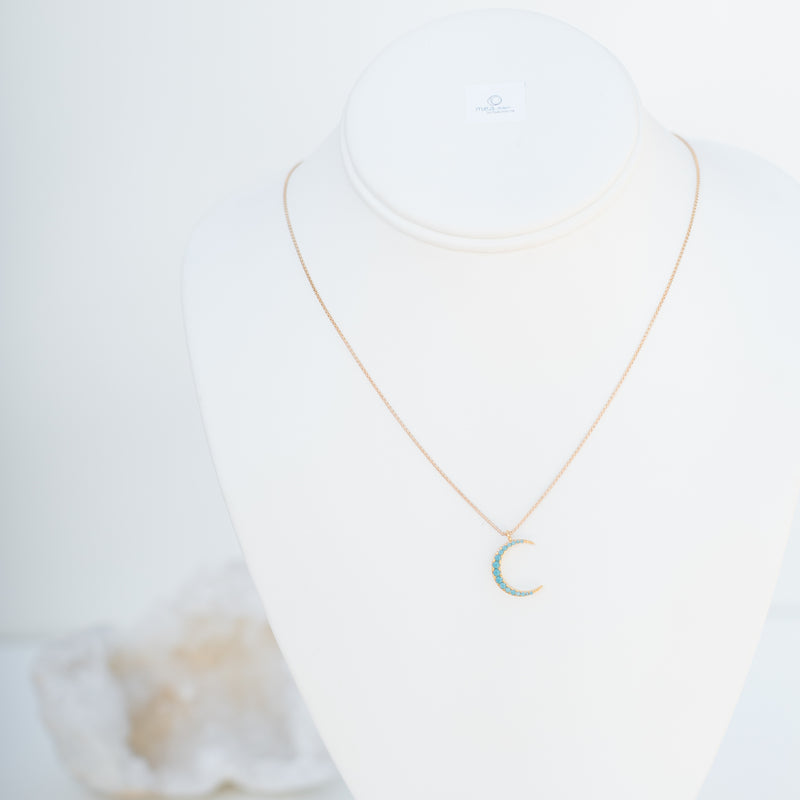 M.E.A. DESIGNS - TURQUOISE CRESCENT NECKLACE