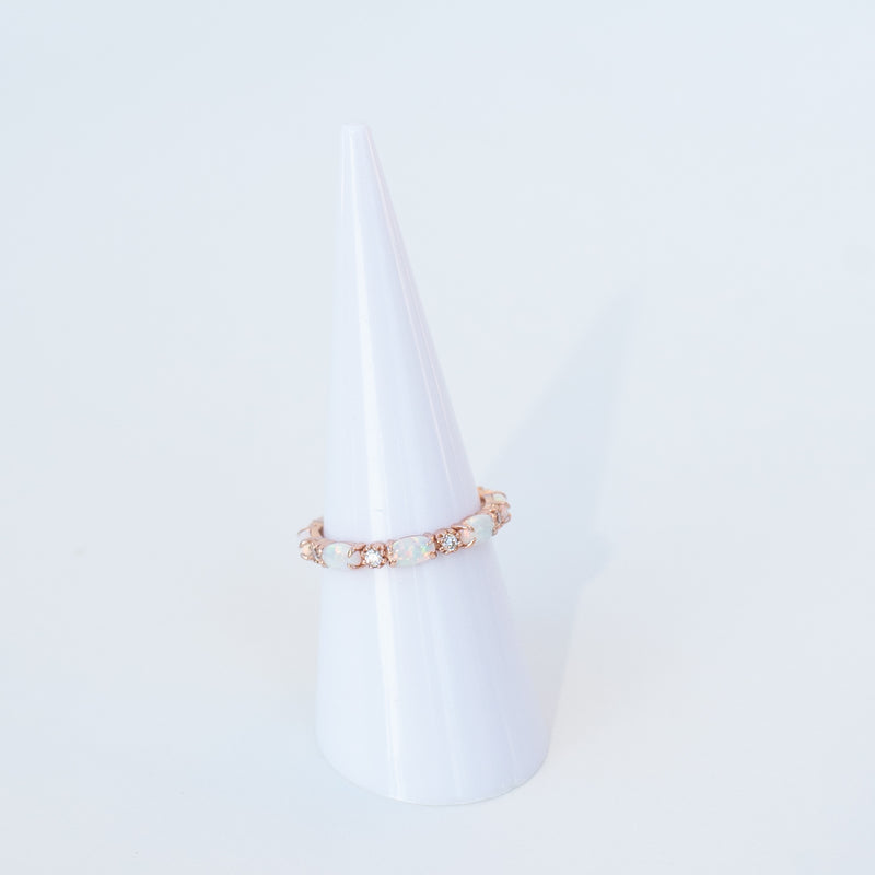 RAPTOR JEWELRY - ROSE GOLD OPAL BAND