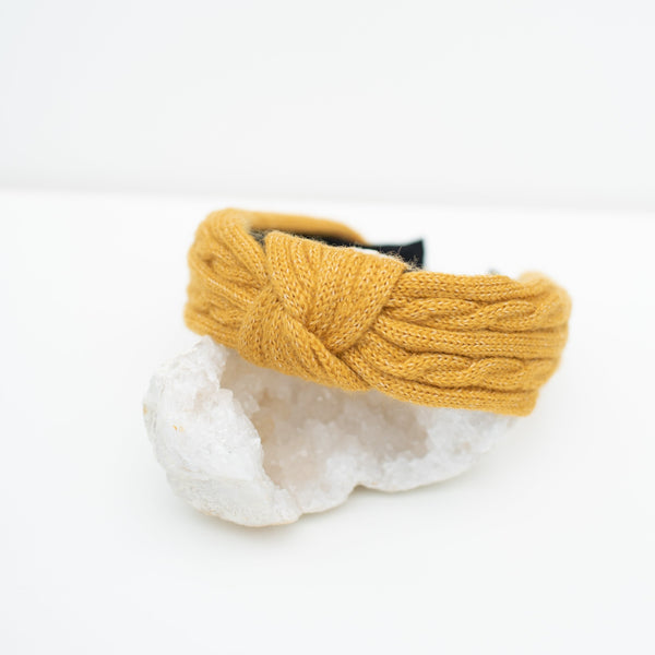 & EVERYTHING NICE BEBE - YELLOW KNIT HEADBAND