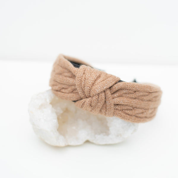 & EVERYTHING NICE BEBE - NEUTRAL KNIT HEADBAND
