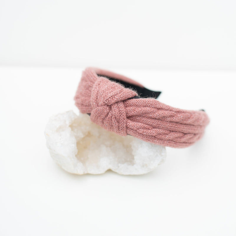 & EVERYTHING NICE BEBE - PINK KNIT HEADBAND