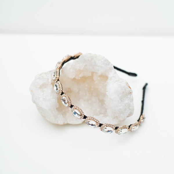 & EVERYTHING NICE BEBE - CLEAR GEM HEADBAND
