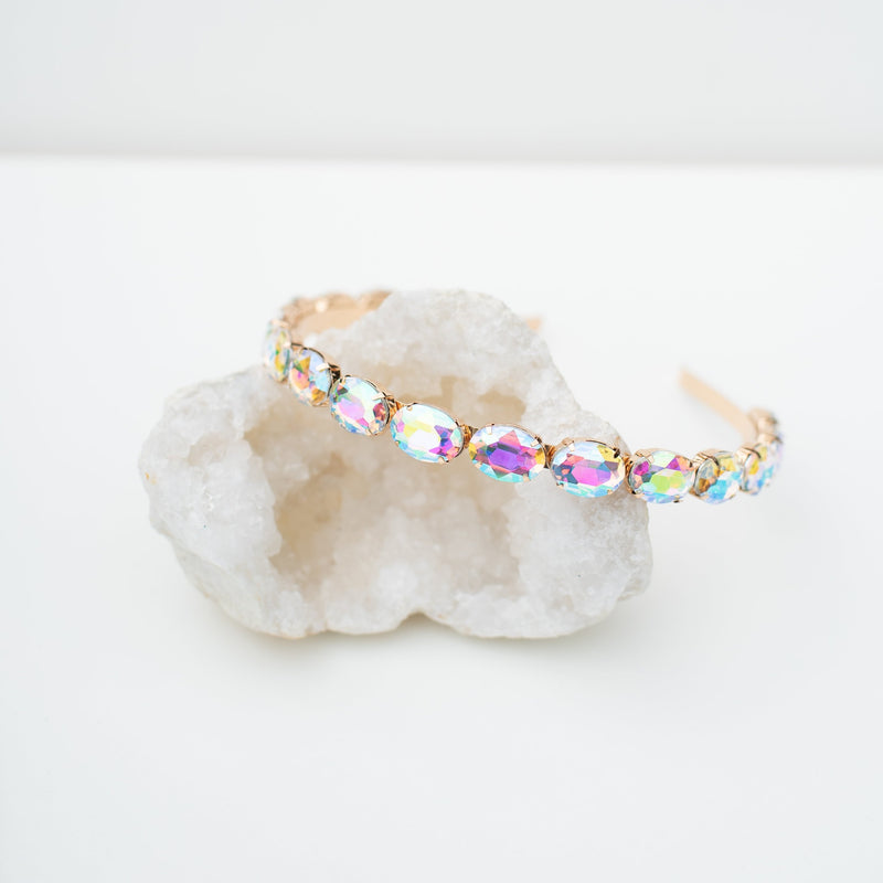 & EVERYTHING NICE BEBE - HOLOGRAPHIC GEM HEADBAND