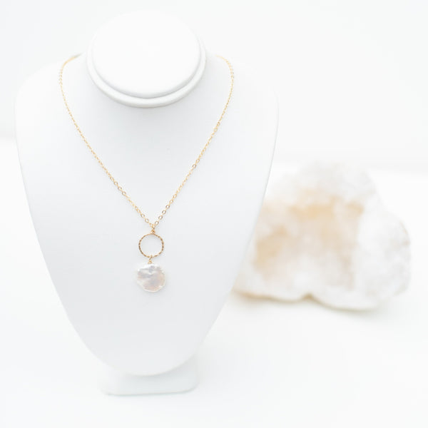 LUSH JEWELRY - PEARL PENDANT NECKLACE