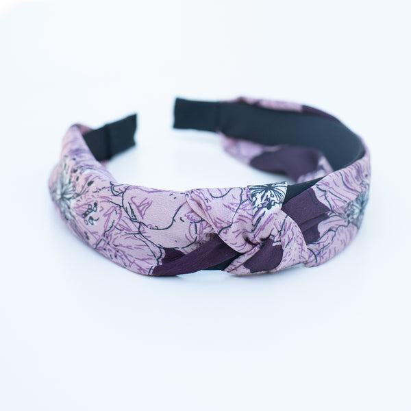& EVERYTHING NICE BEBE - PLUM FLORAL HEADBAND