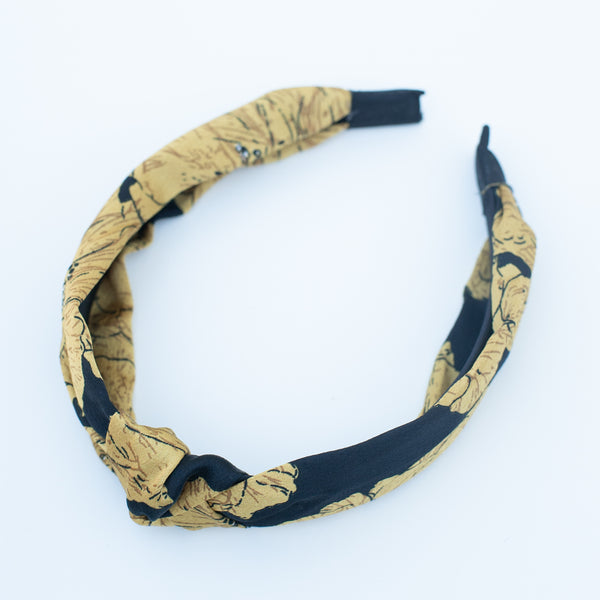 & EVERYTHING NICE BEBE - YELLOW FLORAL HEADBAND