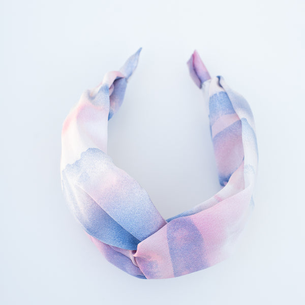 & EVERYTHING NICE BEBE - PINK AND BLUE SKIES TIE DYE HEADBAND
