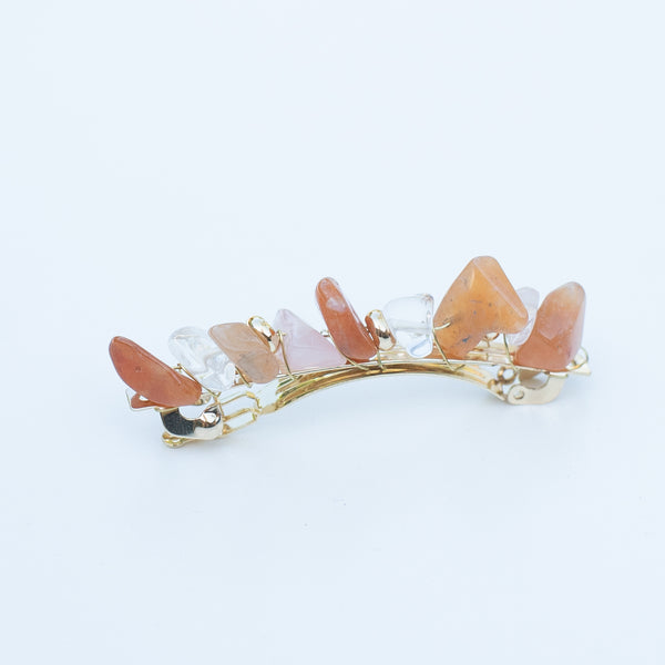 & EVERYTHING NICE BEBE - PEACH STONE BARRETTE