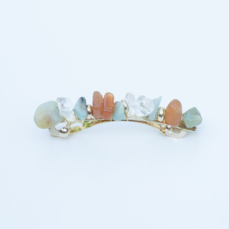 & EVERYTHING NICE BEBE - AQUA STONE BARRETTE