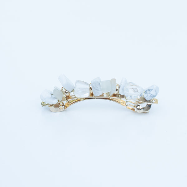 & EVERYTHING NICE BEBE - CLEAR STONE BARRETTE