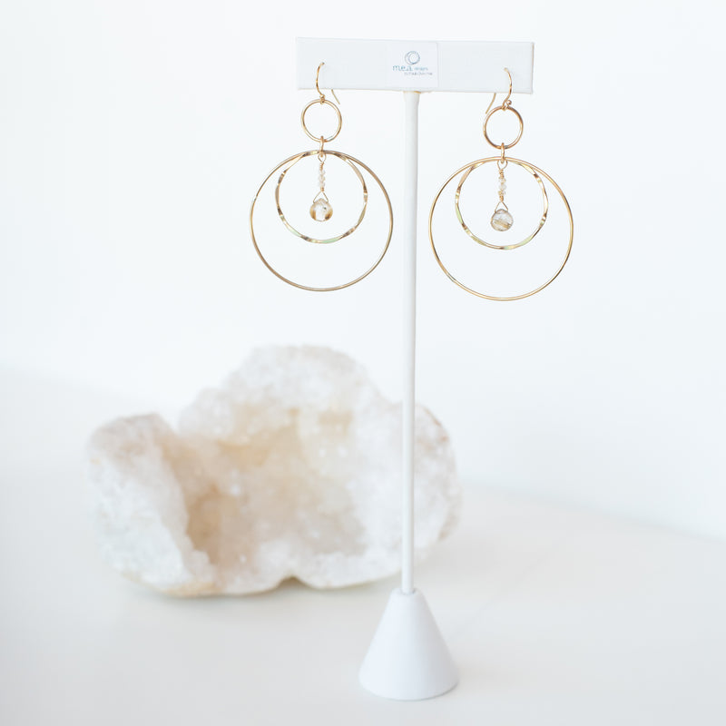 M.E.A. DESIGNS - TRIPLE CIRCLE DANGLES