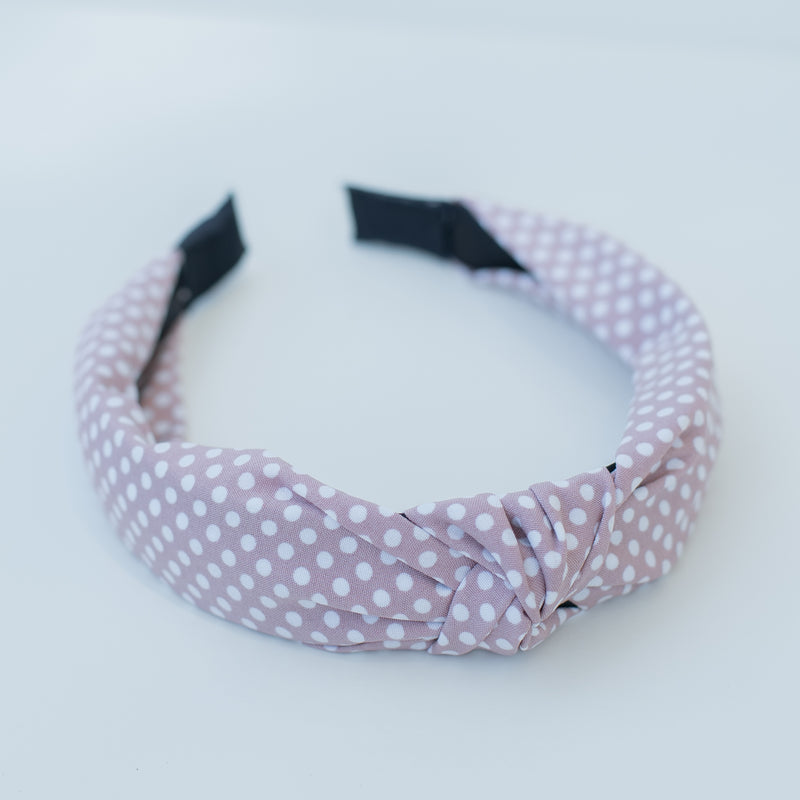 & EVERYTHING NICE BEBE - LILAC POLKA DOT HEADBAND