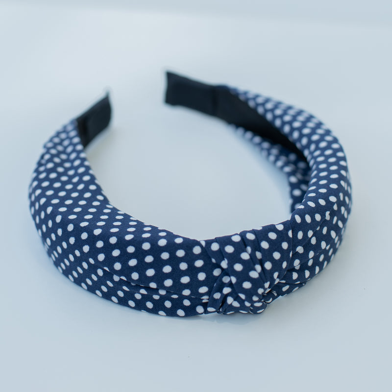 & EVERYTHING NICE BEBE - NAVY POLKA DOT HEADBAND
