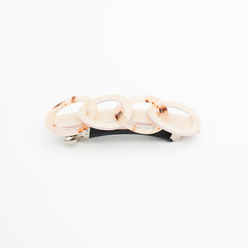 & EVERYTHING NICE BEBE - TAN INFINITY BARRETTE