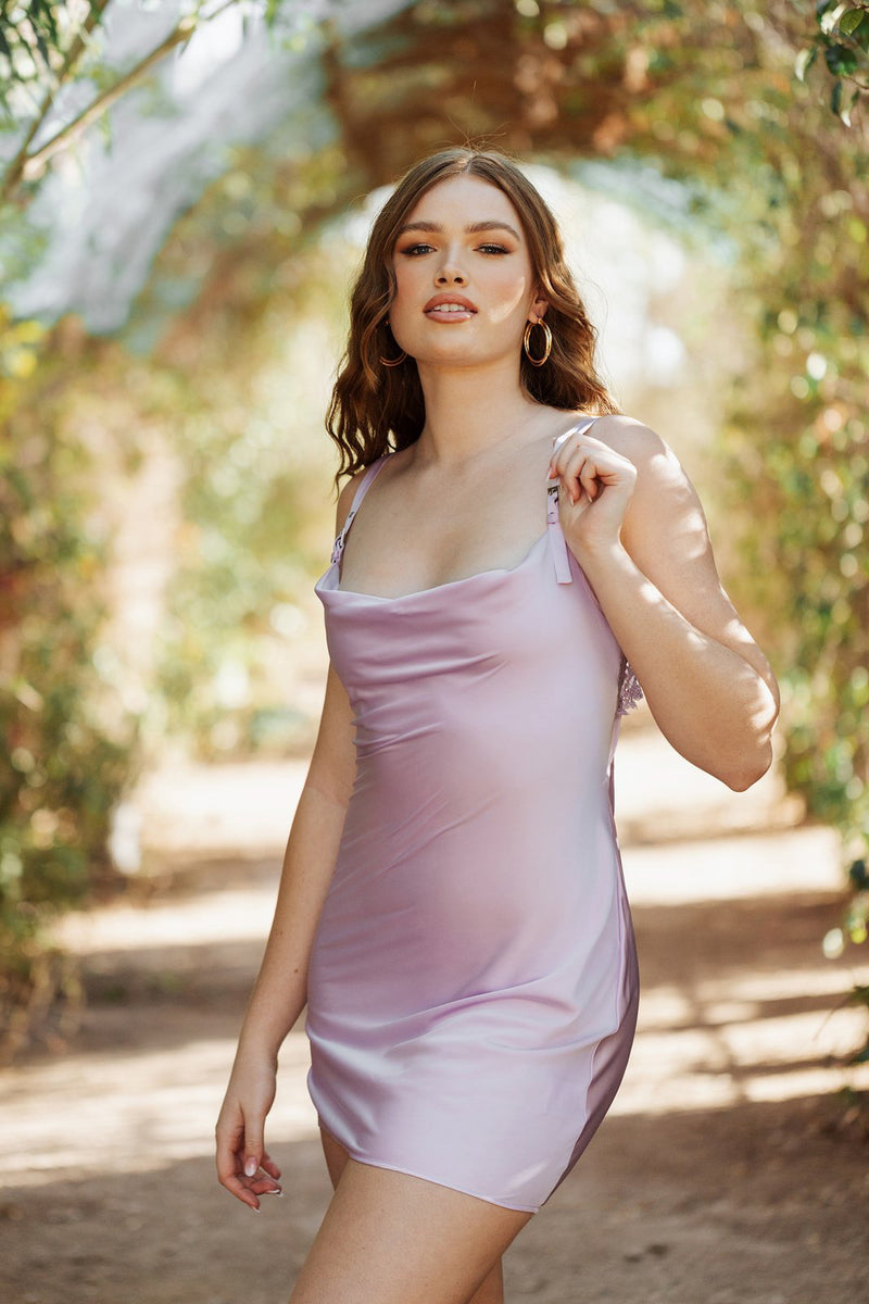 SHADES OF ROSE - GREER SLIP DRESS