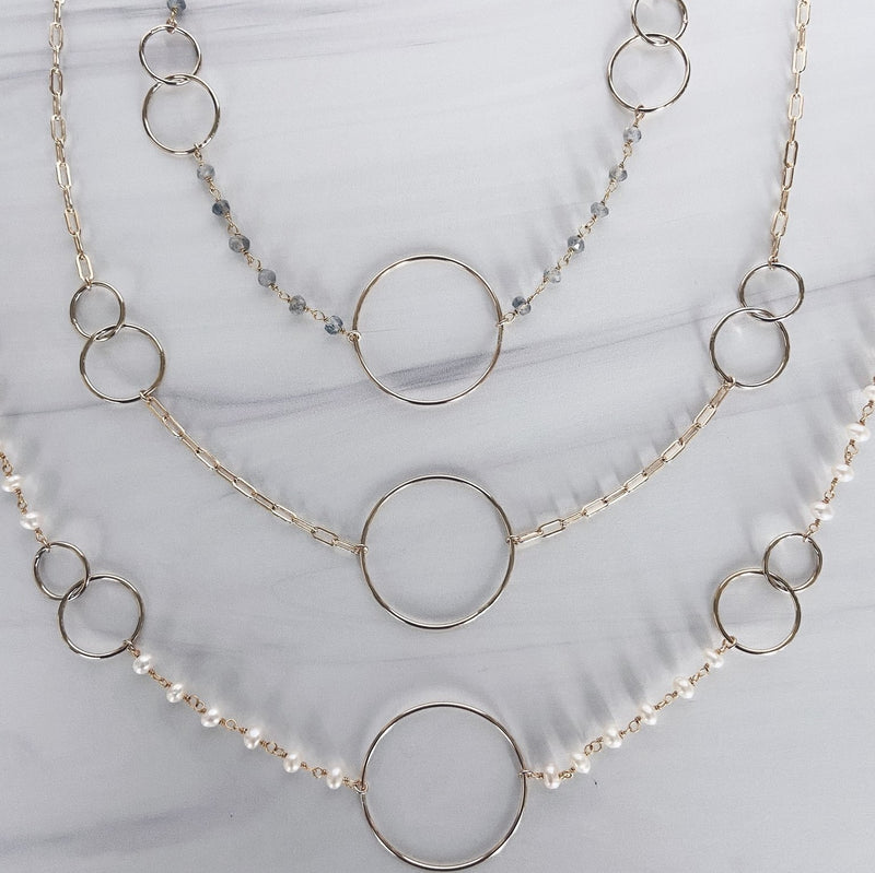 MAC & RY JEWELRY - GOLD CIRCLE LINK NECKLACE