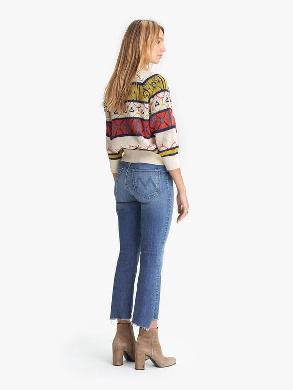 MOTHER DENIM - THE INSIDER CROP STEP FRAY
