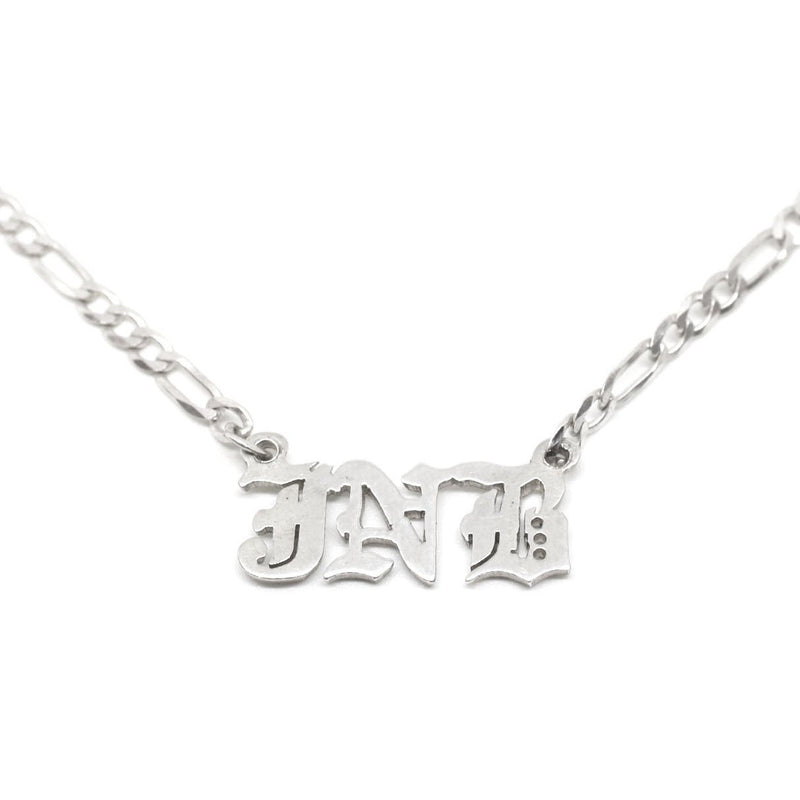 JNB JEWELRY - GOTH CUSTOM NAMEPLATE NECKLACE