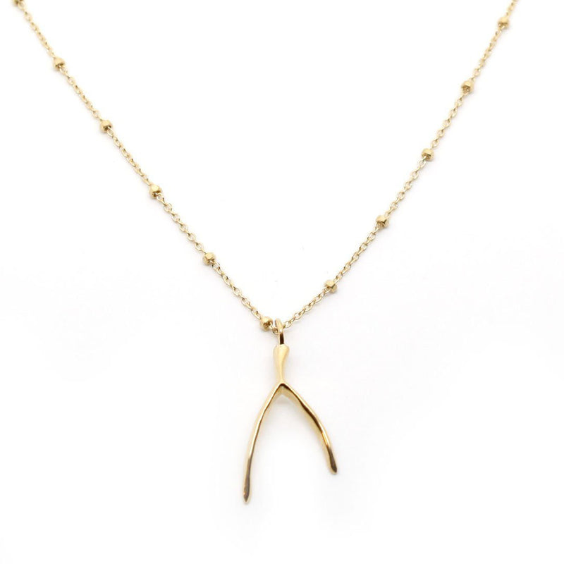 JNB JEWELRY - WISHBONE VERTICAL NECKLACE GOLD