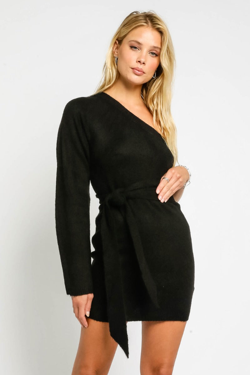 OLIVACEOUS - SOPHIA SWEATER DRESS