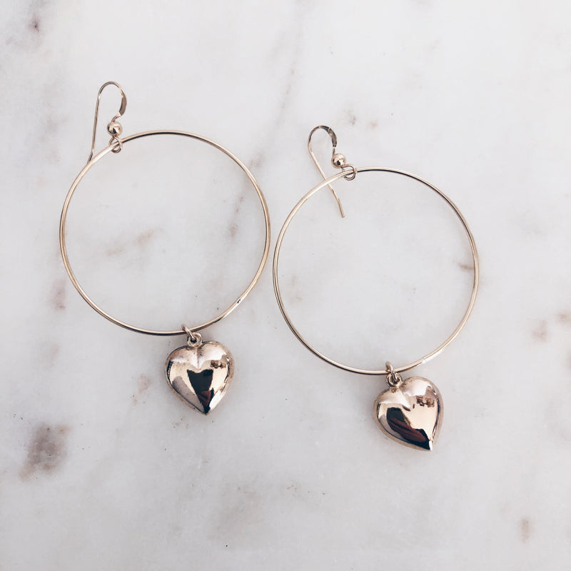 MAC & RY JEWELRY - HEARTBREAKER HOOP EARRINGS