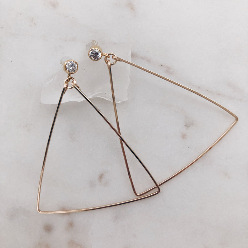 MAC & RY JEWELRY - CZ TRIANGLE HOOPS
