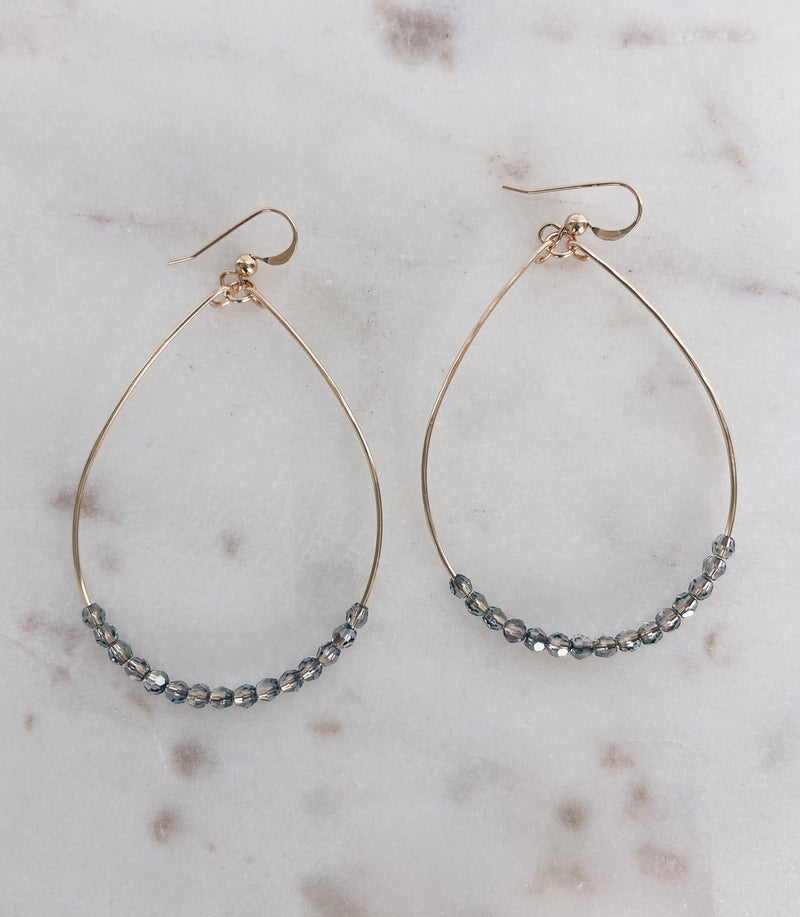 MAC & RY JEWELRY - 14K GOLD FILLED SWAROVSKI CRYSTAL HOOPS