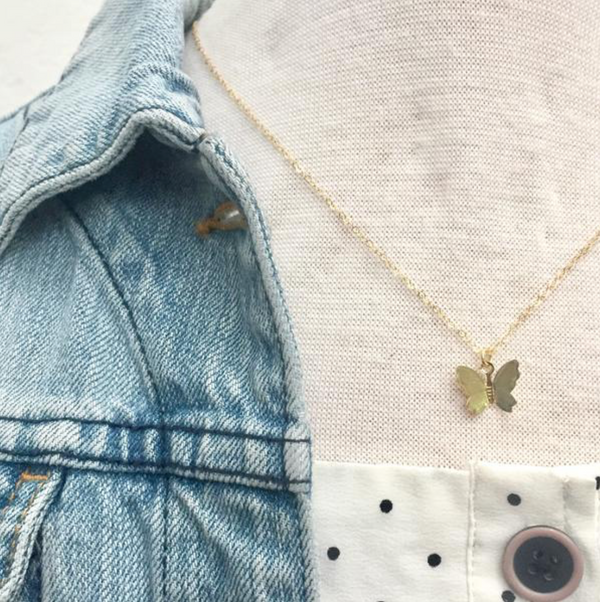 SAND + GRIT - THE BUTTERFLY NECKLACE
