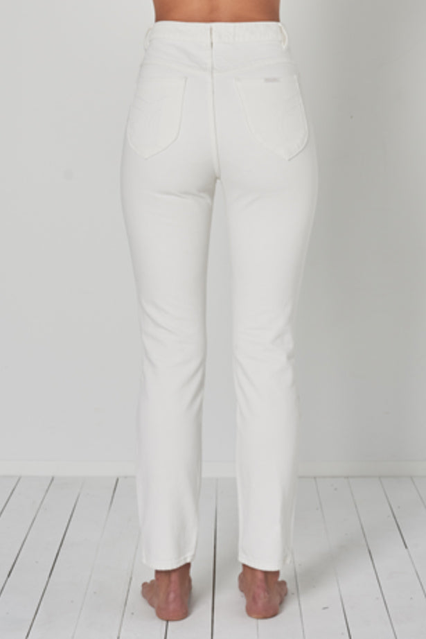 ROLLAS - HIGH RISE SLIM DUSTERS VINTAGE WHITE