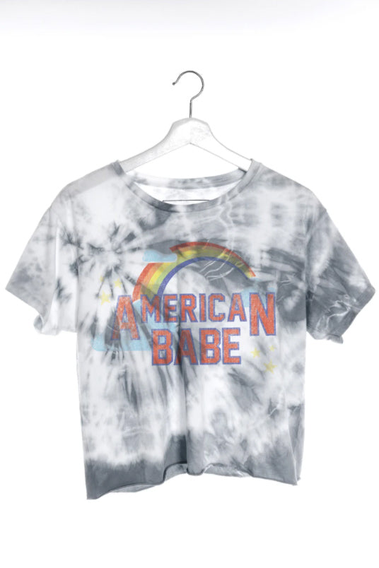 THE LAUNDRY ROOM - AMERICAN BABE CLASSIC CROP TEE