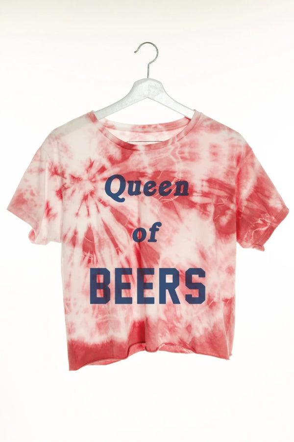 THE LAUNDRY ROOM - QUEEN OF BEERS CLASSIC CROP TEE