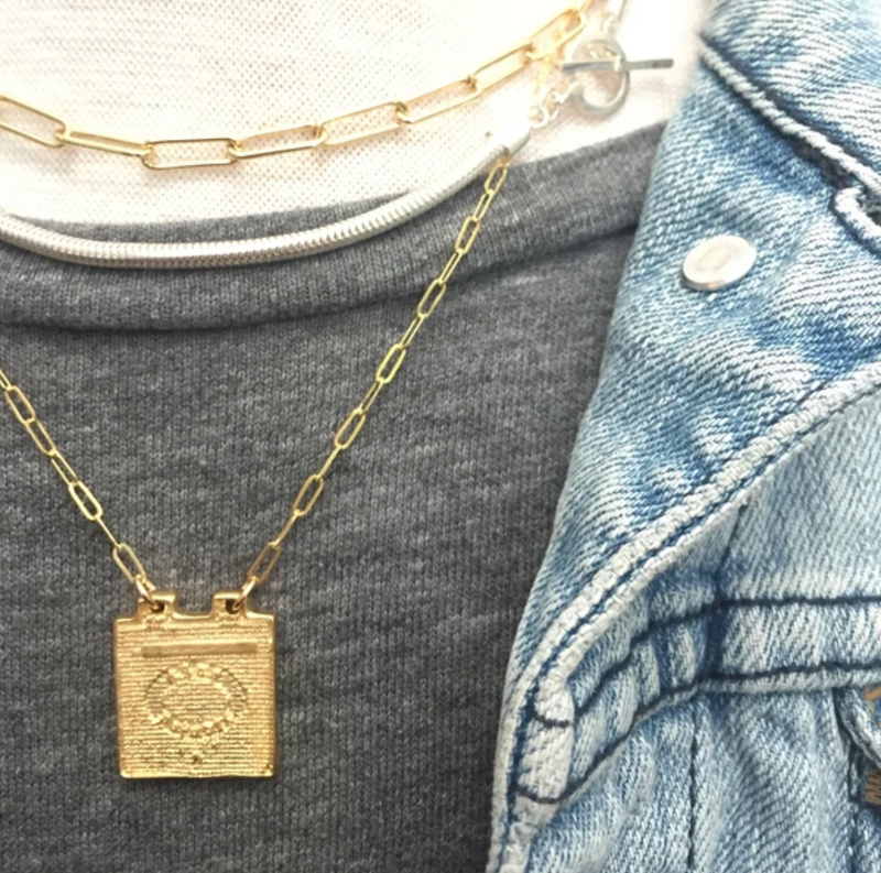 SAND + GRIT - THE MANHOLE COVER NECKLACE
