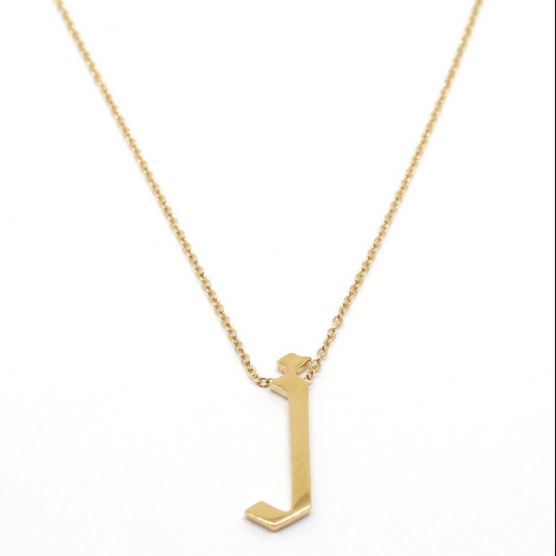 JNB JEWELRY - GOTHIC FONT SINGLE LETTER NECKLACE