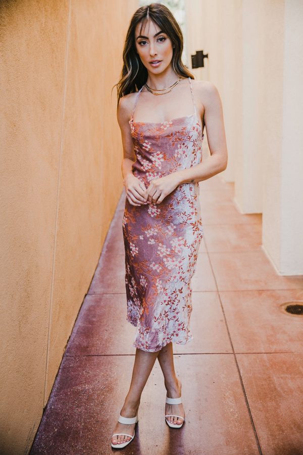 SKYLAR + MADISON - CHAMPAGNE ROSE MIDI DRESS