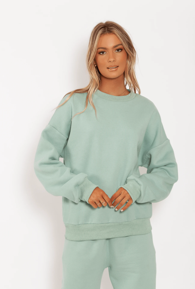 TOBY HEART GINGER - TOBY CREW NECK JUMPER