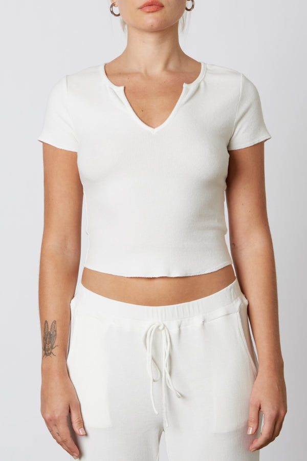 NIA THE BRAND - RIBBED HACCI BABY TEE