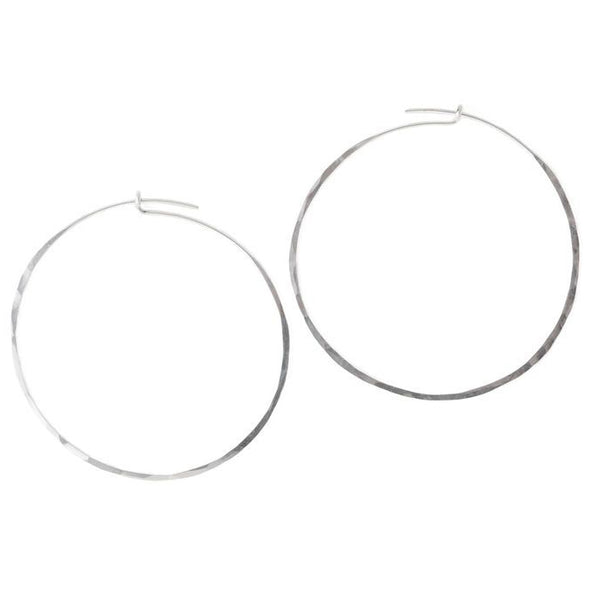 TERESSA LANE - SILVER CLASSIC HOOPS