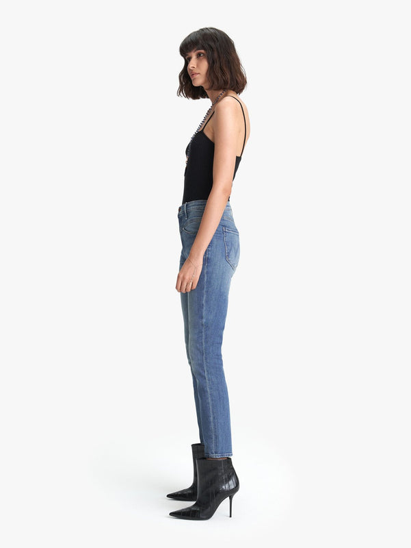 MOTHER DENIM- THE DAZZLER YOKE FRONT ANKLE
