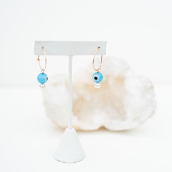 LUSH JEWELRY - EVIL EYE EARRINGS