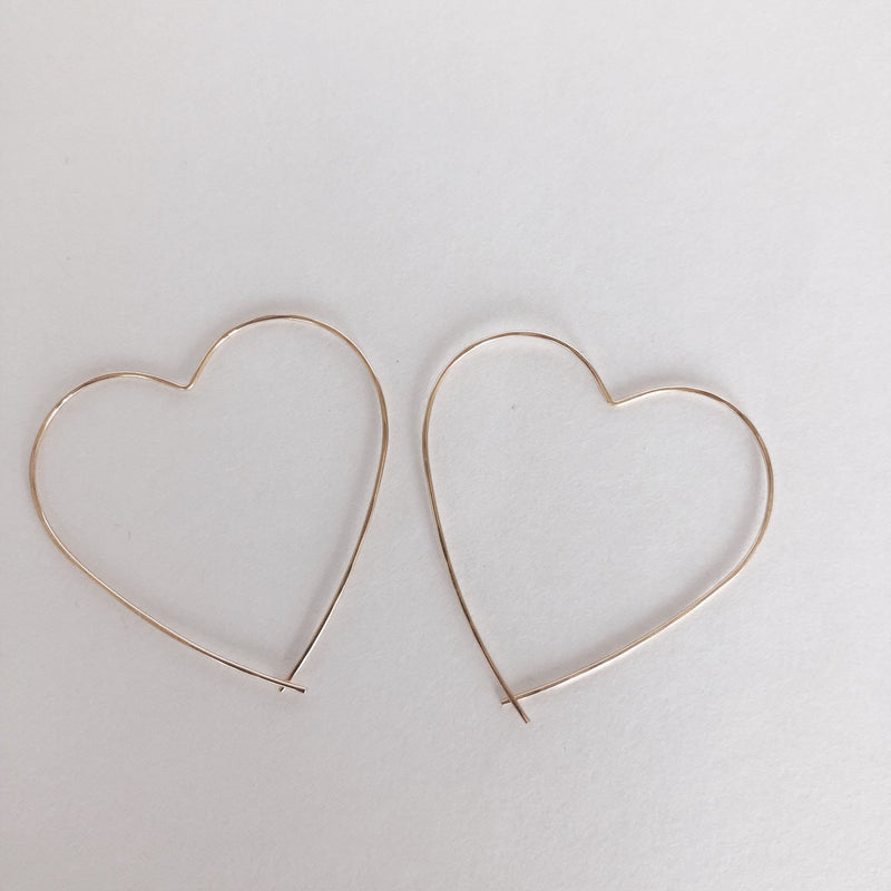 MAC & RY JEWELRY - HEART HOOPS