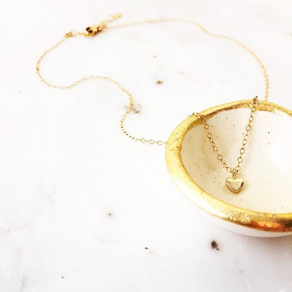 SAND + GRIT - TINY HEART NECKLACE