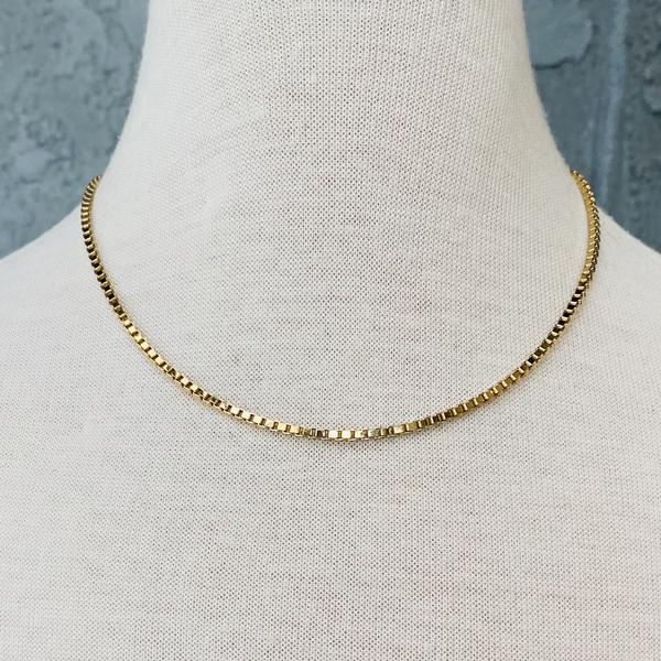 SAND + GRIT - THE BOX LINK NECKLACE