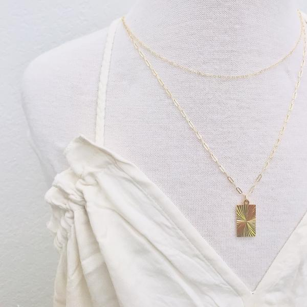 SAND + GRIT - DELICATE LINK LAYERING NECKLACE