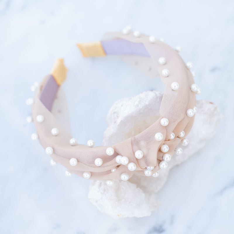 & EVERYTHING NICE BEBE - NUDE PEARL HEADBAND