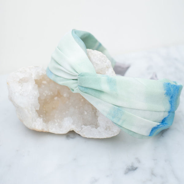 & EVERYTHING NICE BEBE - BLUE AND GREEN TIE DYE HEADBAND